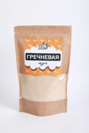 Мука Гречневая ЭкоЖизнь крафт 400 гр (К