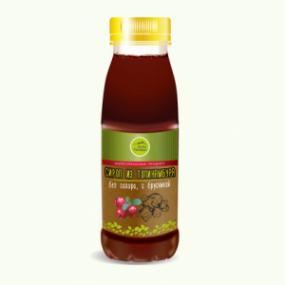 Натуральный сироп из топинамбура без сахара с брусникой, 330гр