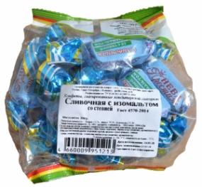 Конфеты Сливочная с изомальтом со стевией 200 гр.