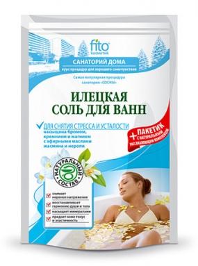 Соль для ванн Илецкая Для снятия стресса и усталости 530 гр.