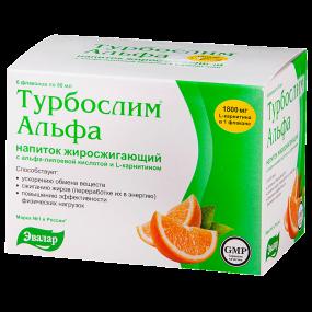Турбослим Альфа напиток жиросжигающий 50 мл №6 саше