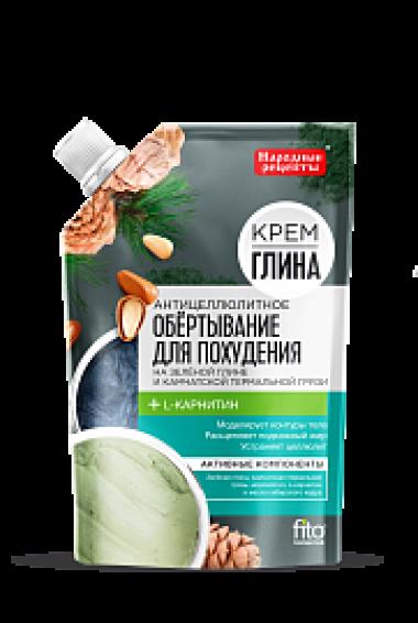 Обертывание для тела «Крем-глина Народные рецепты» Антицеллюлитное 120 гр