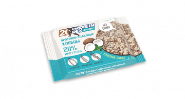 Протеино-злаковые хлебцы «ProteinRex» CRISPY «Кокосовый крамбл», 55 г