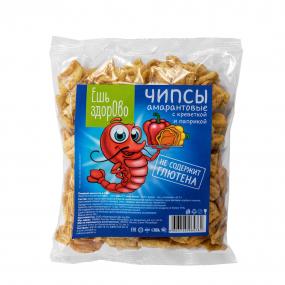 Чипсы без глютена «Ешь здорово» со вкусом креветки и паприки 90 гр.