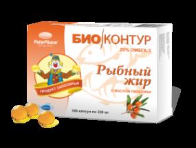 Рыбный жир БиоКонтур с облепихой №100 капс.