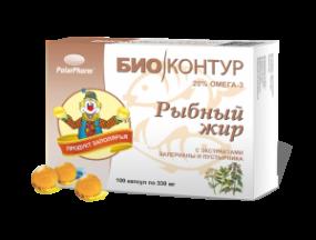 Рыбный жир Биоконтур валериана/пустырник №100 капс.