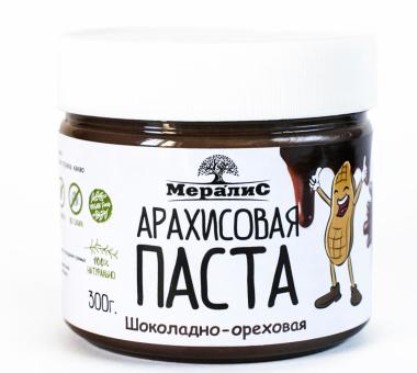 """Арахисовая паста """"Шоколадно-ореховая"""", 300 г"""