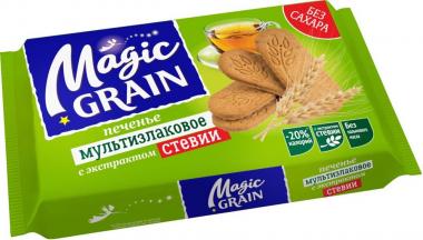 Печенье Magic Grain Мультизлаковое с экстрактом стевии, 150 г