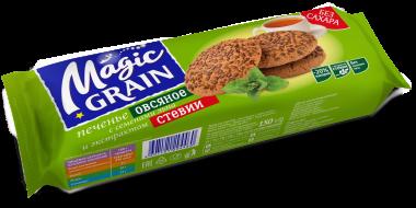 Печенье Magic Grain Овсяное с семенами льна и экстрактом стевии 150 г