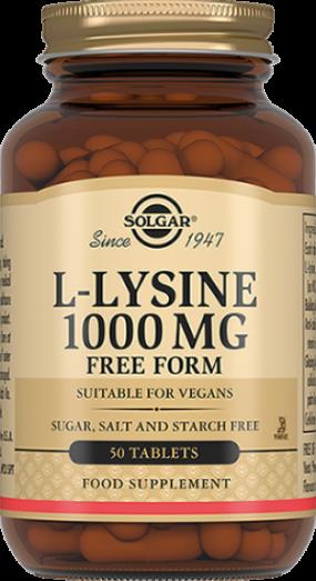 Солгар L-Лизин 1000 мг №50 табл.