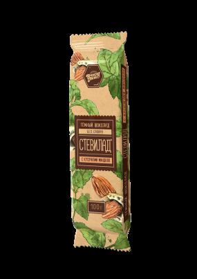 Стевилад с миндалем(темный шоколад) 100 гр.