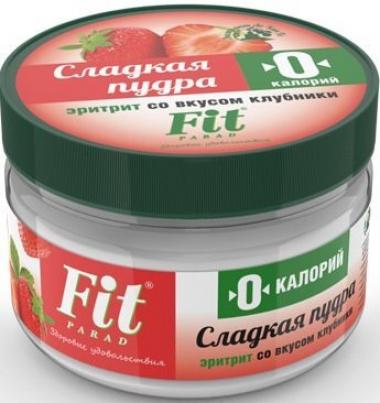 Сладкая пудра со вкусом клубники, ФитПарад, 160 г