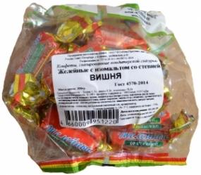 Конфеты желейные с изомальтом со стевией Вишня 200 гр.