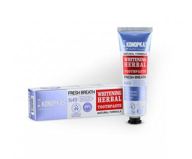 Отбеливающая травяная зубная паста Whitening herbal toothpaste, 75 мл