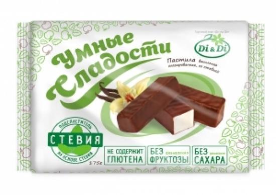 """Пастила ванильная глазированная со стевией """"Умные сладости"""" 175 г"""