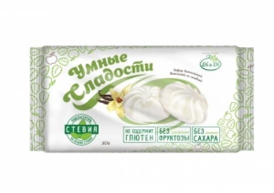 """Зефир ванильный """"Умные сладости"""" со стевией 50 гр."""